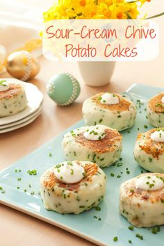 Budget-friendly Easter recipes: Easy Sour-Cream Chive Potato Cakes