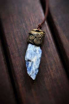Blue Kyanite Crystal Healing Pendant Necklace by TRaewyn on Etsy, $60.00… OKAY I love this!