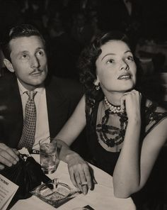 Husband Oleg Cassini and Gene Tierney, 1948