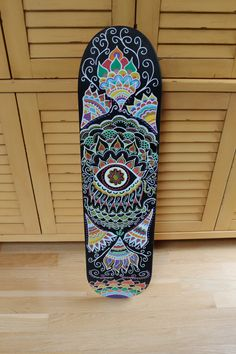 Hand Painted Skateboard by AvaDesignz on Etsy