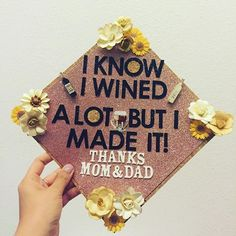 Pin for Later: 15 Punny Graduation Caps That Are Downright Genius Funny Graduation Caps, College Graduation Pictures, Graduation Cap Designs, Graduation Cap Decoration, Grad Pics, Graduation Day, Senior Graduation Quotes, Abi Motto, Cap Decorations