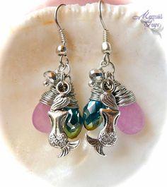 Mermaid Earrings made in Hawaii Hawaiian by MermaidTearsDesigns, $18.00