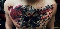 35 Trash Polka Tattoo Designs 10