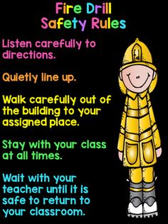 Outstanding Parenting Tips on How to Teach Your Kid to be Healthy Ideas. Secret Parenting Tips on How to Teach Your Kid to be Healthy Ideas. Fire Safety Poster, Health And Safety Poster, Fire Safety Week, Safety Posters, Safety Rules For Kids, Fire Prevention Week, Fire Drill, School Safety, Beginning Of The School Year