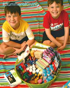 "Service project idea - ""blessing bags"" for kids in situations that need police intervention or foster care."