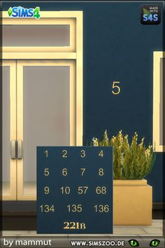 Blackys Sims 4 Zoo: House numbers by mammut • Sims 4 Downloads