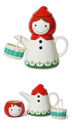 Red Riding Hood tea set - cute! #product_design