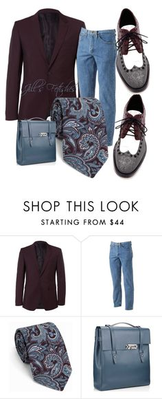 """""""Shoe Laces"""" by jillof6 ❤ liked on Polyvore featuring Burberry, Lee, Tiger of Sweden, men's fashion and menswear"""