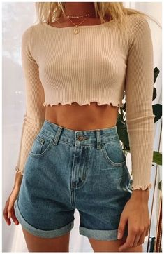 teenager outfits summer crop tops ~ teenager outfits - teenager outfits summer - teenager outfits for school - teenager outfits winter - teenager outfits casual - teenager outfits boys - teenager outfits for school cute - teenager outfits summer crop tops 50 Fashion, Fashion Kids, Look Fashion, Fashion Outfits, Denim Fashion, Womens Fashion, Fashion Clothes, Petite Fashion, Winter Fashion