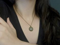 Tiny cross stitch diamond necklace Embroidered от TriccotraShop