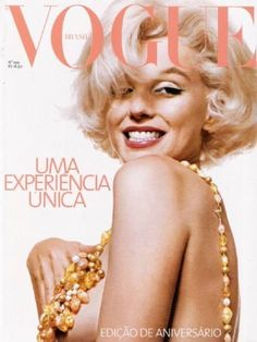 "Marilyn Monroe on the cover of Vogue Brasil, in an outtake from ""The Last Sitting"", photographed by Bert Stern - May 2003 Marylin Monroe, Marilyn Monroe Photos, Marilyn Monroe Wallpaper, Bert Stern, Vogue Magazine Covers, Fashion Magazine Cover, Mode Poster, Mazzy Star, Vintage Vogue Covers"