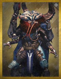 Skolas, Kell of Kells was a Fallen Captain, who became the Kell of the House of Wolves during the war against the Reef and sought to unite all of the Fallen Houses under his rule. He serves as the main antagonist of Destiny: House of Wolves. Destiny Fallen, Destiny Gif, Destiny Bungie, Character Concept, Concept Art, Character Design, House Of Wolves, Four Arms, Wolf