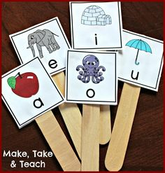 Short vowel sticks freebie!  Great way for practicing those tricky short vowels sounds.