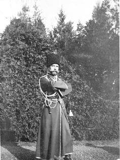"Tsar Nicholas ll of Russia in his Cossack uniform.  ""AL"""
