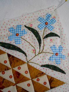 "Supergoof Quilts: ""Hoi Sweet William Bloemen Meisje"""