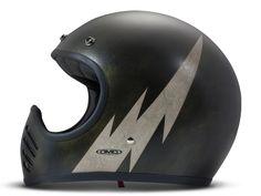 "DMD SeventyFive ""Handmade Double"". Retro moto cross helmet with ECE 22.05 and handmade design. Very cool vintage moto style helmet."
