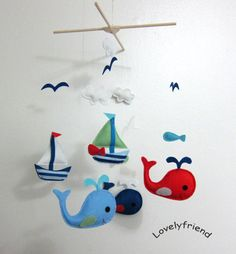 Baby Crib Mobile  Baby Mobile  Felt Mobile  by lovelyfriend, $78.00