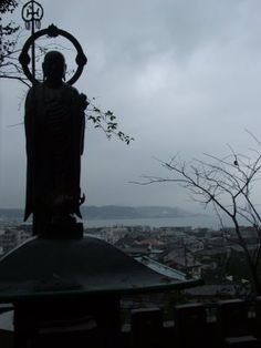 Jizo watching over his town, his little ones