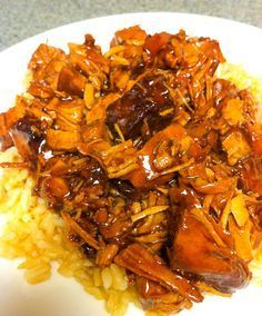 """Bourbon """"Crack"""" Chicken – Crockpot Style  {SS note: we both really liked the flavors of this & it was really easy to put together--using frozen whole chicken--but 2 tbsp of chili sauce was too spicy for us. definitely a keeper; Next time I'll just use less chili sauce}"""