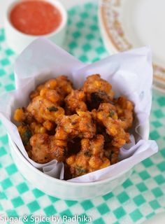 Corn Fritters with Simple Red Chili Salsa ~ Monsoon Special