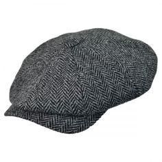 Harris Tweed Herringbone Newsboy Cap  available at #Brighton