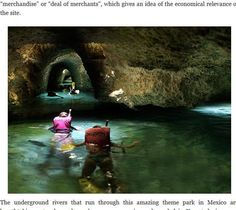 シカレは有名リゾート地カンクンから南へ約1時間のところにあります。かつて地下を流れていた川のなかでシュノーケルを付けて泳ぎながら、マヤ文明の遺跡を見物することができるのです。