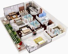 plano para hacer casa en minecraft Planos de casas modernas Casa de tres pisos Planos de casas