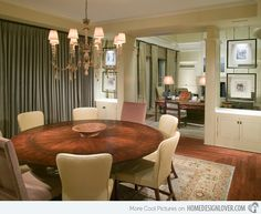 15 Stunning Round Dining Room Tables | Home Design Lover