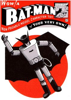 Chris Ware's Batman papercraft.