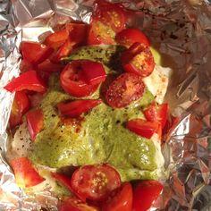 Pesto catfish bbq