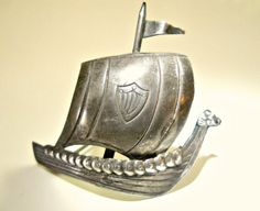 Viking Ship Sterling Silver BroochPin Figural by RenaissanceFair
