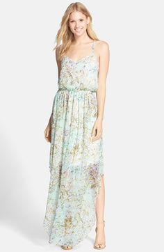BCBGeneration Floral Print Strappy Maxi Dress