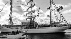 """The Cuauhtemoc  From Mexico: Tall Ships Set Sail From Dublin: The """"Parade of Sail"""" which was viewed by up to 200,000 people marked the end of the festival and the Army organised a 21-gun salute to say goodbye to the Tall Ships, which left Dublin's docklands this morning."""