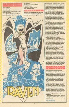 George Perez the REAL Raven not that cartoon one Comic Book Characters, Comic Character, Comic Books Art, Comic Art, Character Design, The New Teen Titans, Dr Fate, Manga, Superman
