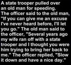 funny cop jokes - Dump A Day Cop Jokes, Cops Humor, Police Humor, Funny Jokes, Police Wife, It's Funny, Funny Police, Jokes Pics, Funny Captions