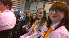 The team waiting for the beginning of the Opening Ceremony at the National Finals.
