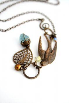 Vintaj - N0250 - Carried Away Necklace
