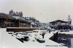 Muelle de Arriluze, nevada de 1985 (Cedida por Fede Cassi) (ref. 05050)