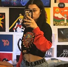 tips on aesthetic fashion Edgy Outfits, Grunge Outfits, Girl Outfits, Cute Outfits, Aesthetic Fashion, Aesthetic Clothes, Outfits Winter, 90s Fashion, Fashion Outfits