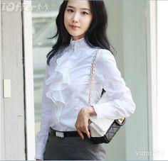white blouse, classy