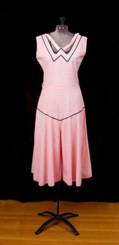 1930's Beach Pajamas // Pink Wide Leg Gaucho One by GarbOhVintage