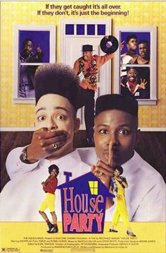 VHS: House Party [VHS] with Kid 'N Play (actor), Full Force (actor) and Reginald Hudlin (director) Love Movie, Movie Tv, Movie List, House Party Movie, 90s Party, Party Time, Movies Showing, Movies And Tv Shows, 1990 Movies