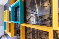 Amerikai iskola – A épület kávézó Helyszín: AISB, Nagykovácsi Tervezés éve: 2017 Tervező: Hion design