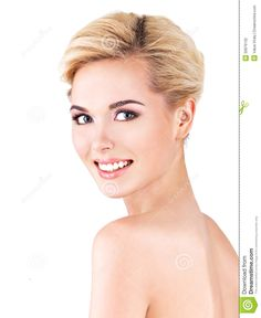 Beautiful Woman Smiling Face -Want younger rejuvenated skin? Anti-aging stem cells might be your solution! #skincare #stemcells
