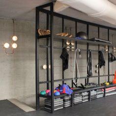 Dubai-based Anarchitect creates industrial interiors for boutique gym in Beirut . Dubai-based Anarchitect creates industrial interiors for boutique gym in Beirut – Insight, , Proj Gym Interior, Boutique Interior, Interior Design, Gym Room At Home, Indoor Gym, Home Gym Design, Gym Decor, Crossfit Gym, Industrial Interiors