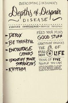 """Promise Tangeman – Overcoming the Designer's """"Depths of Despair"""" Disease (sketch notes by seanwes)"""