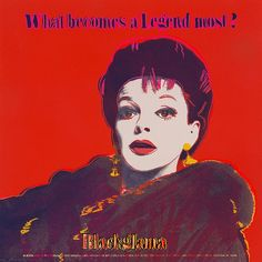 andy warhol judy garland from ads series