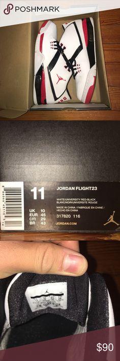 Jordan flight23 Worn twice, slight toe creasing Air Jordan Shoes Sneakers