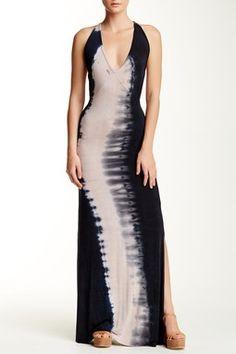 Printed T-Back Maxi Dress