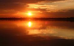 Sunrise On Lake Woodruff by Edie Ann Mendenhall